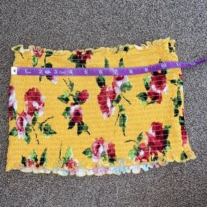 5/$20. Small mustard floral tube top